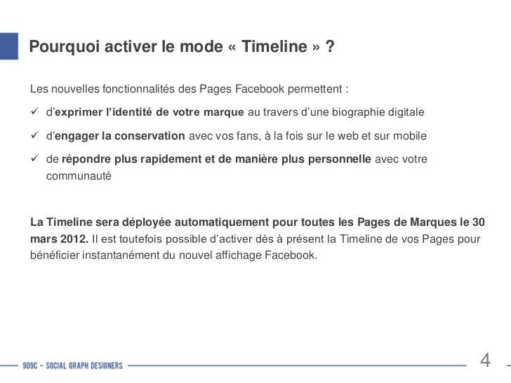 La Timeline des Pages                         Photo de couverture   Photo de profil                         Bloc d'onglets...