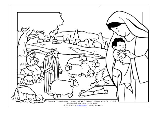 Mary And Joseph Coloring Pages - GetColoringPages.com | 452x638