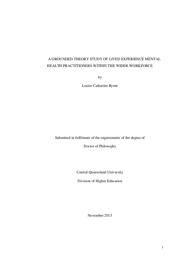 thesis on grounded theory