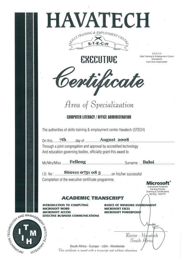certificate office admin slideshare upcoming