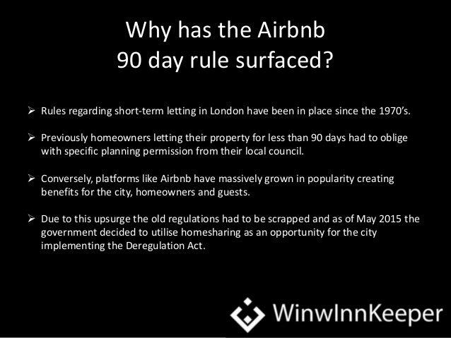 WinwInnkeeper, Airbnb and the 90 Day Rule