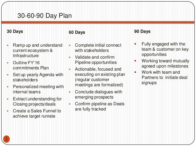 30 60 90 Day Plan. 30 60 90 Day Sales Plan Sample Template 20+ 30 ...