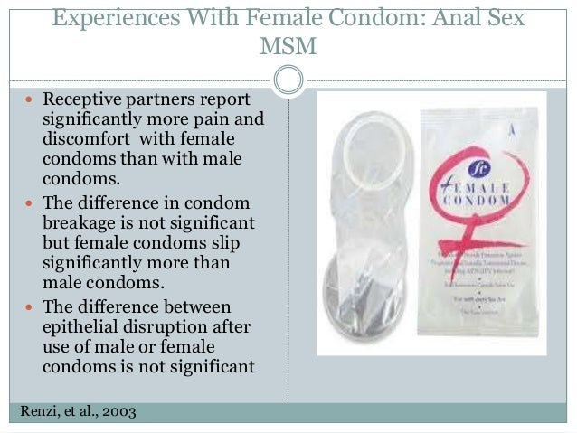 Female condom and anal sex