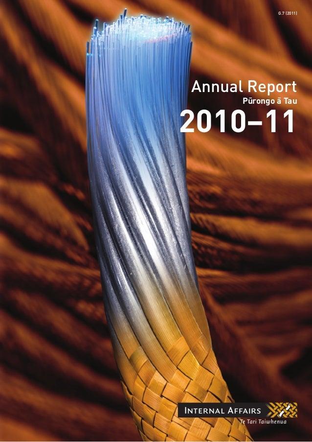 Annual Report 2010–11 Pu¯rongo a¯ Tau G.7 (2011)