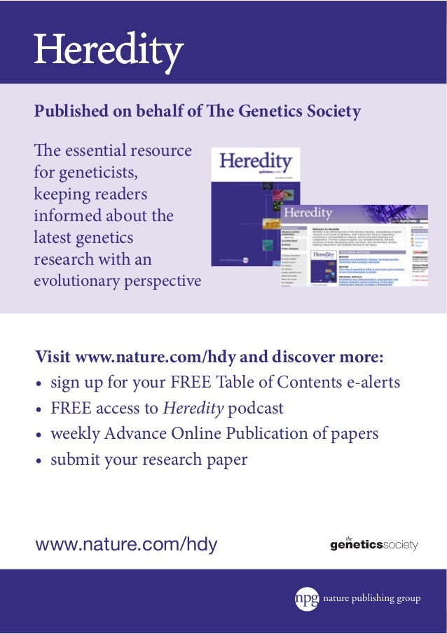 essay heredity Read this essay on heredity come browse our large digital warehouse of free sample essays get the knowledge you need in order to pass your classes and more only at.