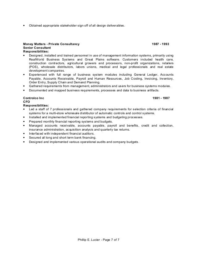 Resume Accounts Payable Great Plains Software