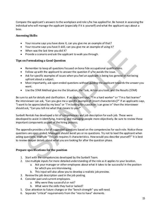 Fit Skills Reliabity SAM PLE; 7.  Walk Me Through Your Resume Example