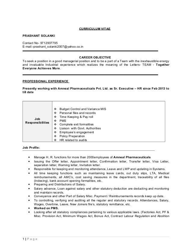 Resume Prashant