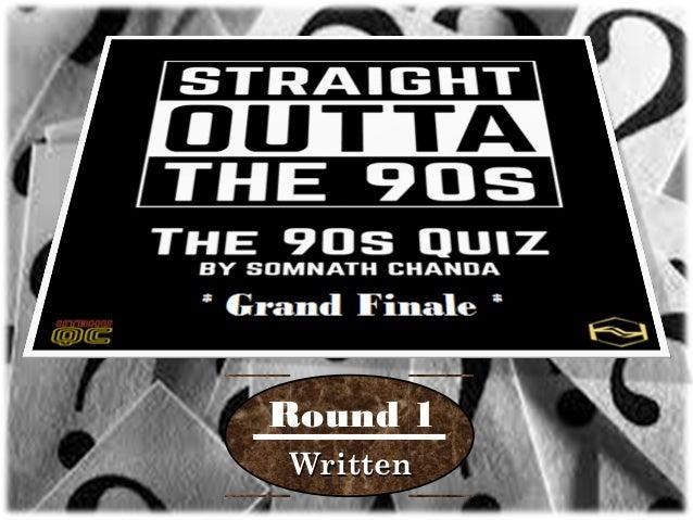 90's Quiz (Grand Finale)