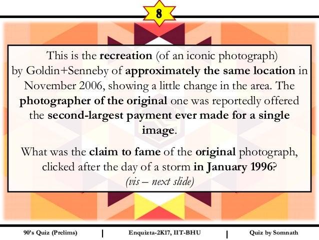 90's Quiz (Prelims)