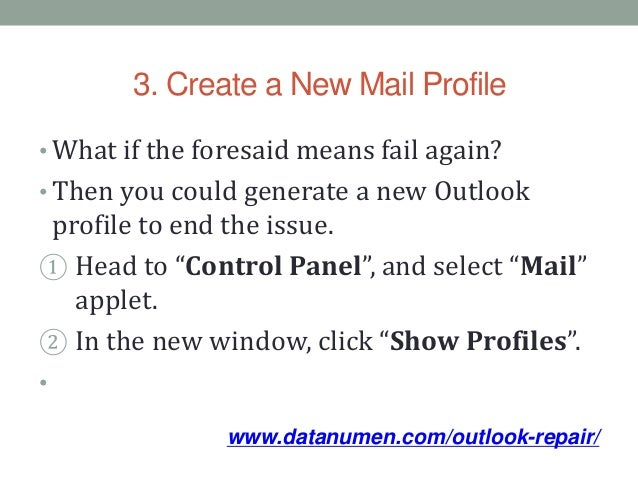 win 7 how to repair outlook program in control panel
