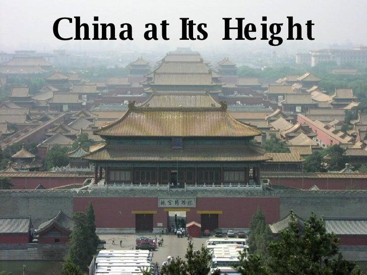 China at Its Height
