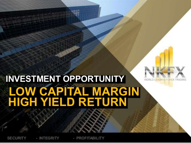 INVESTMENT OPPORTUNITY  LOW CAPITAL MARGIN  HIGH YIELD RETURN  SECURITY - INTEGRITY - PROFITABILITY