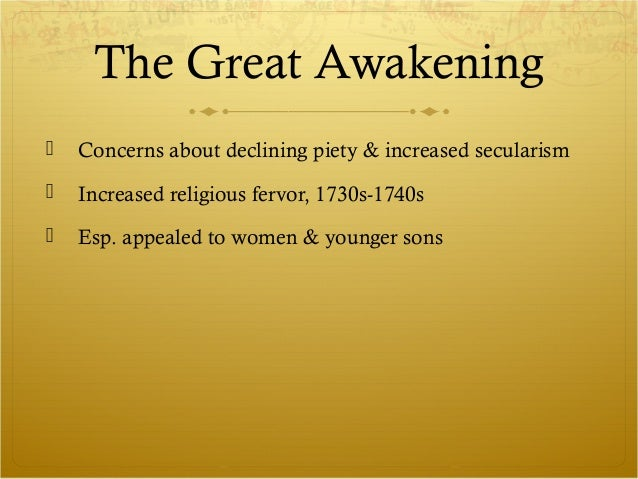 essays enlightenment great awakening Quiz october 2, 2013 learn with flashcards, games, and more — for free.