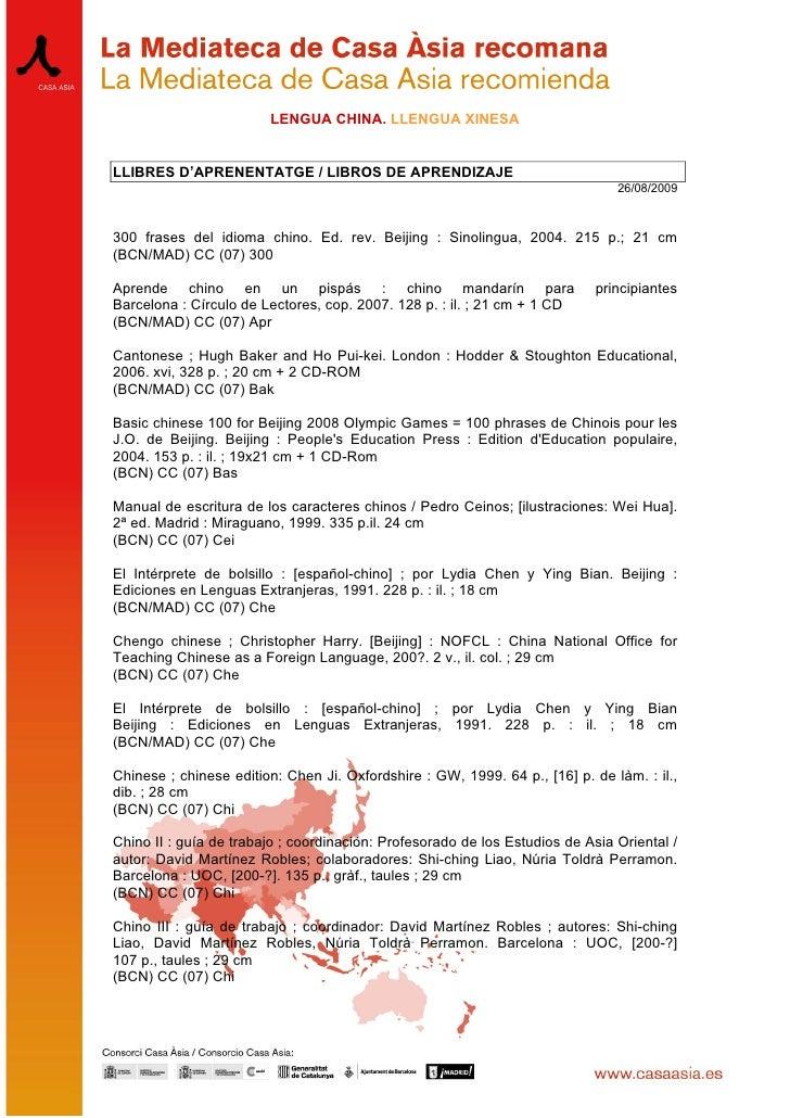 LENGUA CHINA. LLENGUA XINESA   LLIBRES D'APRENENTATGE / LIBROS DE APRENDIZAJE                                             ...