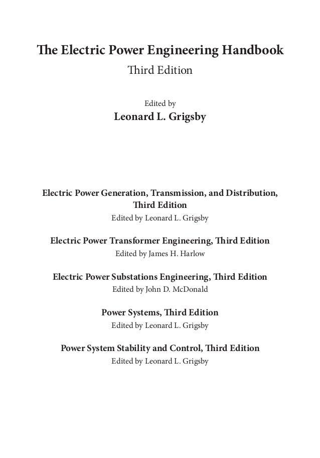 electric power substations engineering second edition mcdonald john d