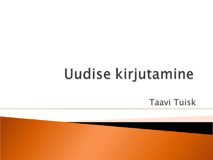 Taavi Tuisk