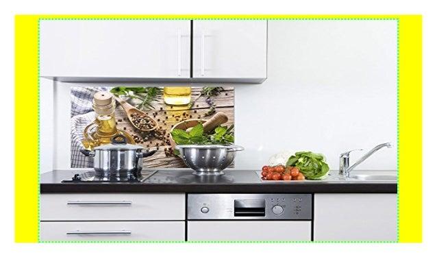 GRAZDesign 200144_60x60_SP Spritzschutz Glas für Küche/Herd ...