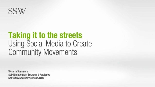 Case Study: Using Social Media to Create Community Movements