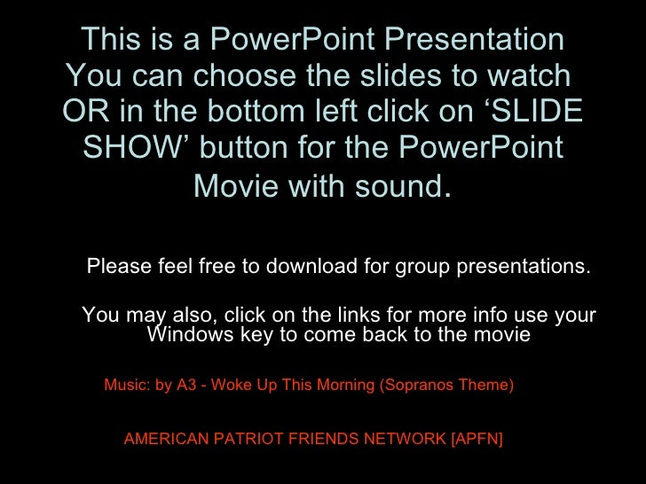 This is a PowerPoint Presentation You can choose the slides to watch  OR in the bottom left click on 'SLIDE SHOW' button f...