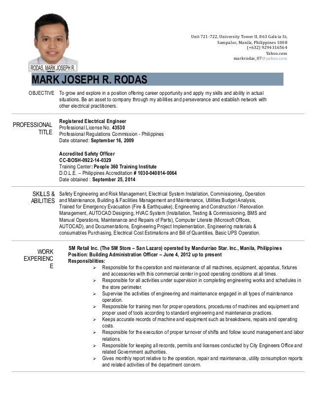resume   engr  mark joseph r  rodas   april 2015  1