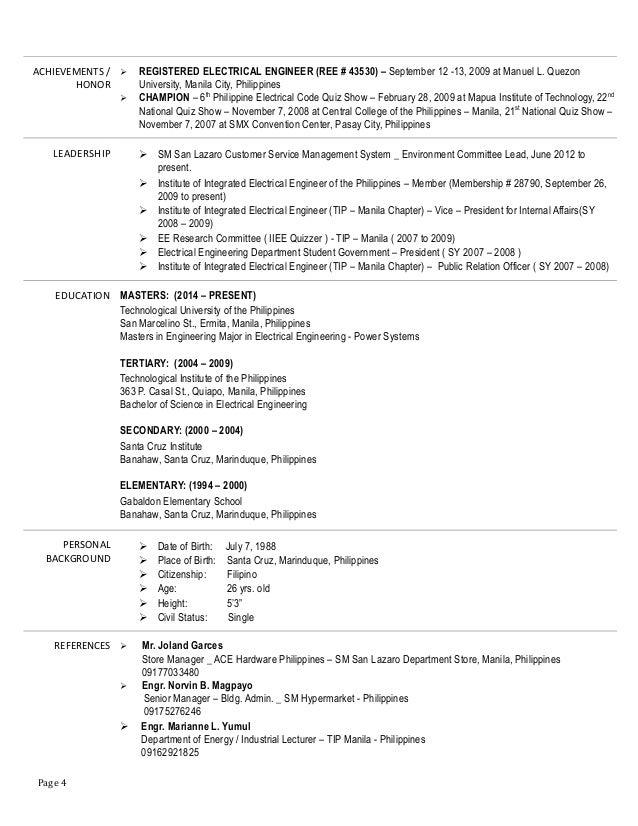 Resume Engr Mark Joseph R Rodas April 2015 1