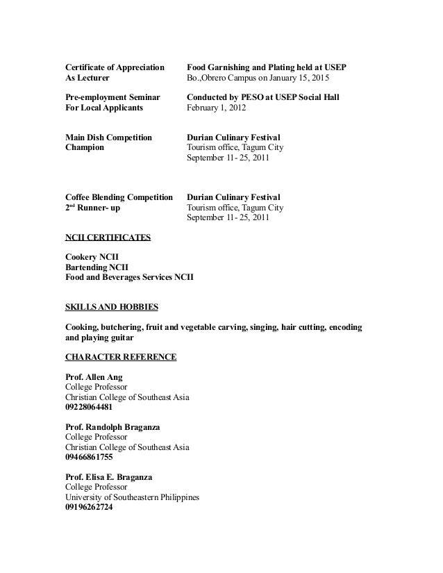 My resume 4 certificate of appreciation yelopaper Gallery