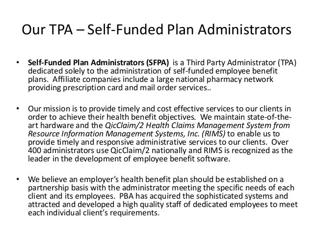Self Funding Amp Tpa Services
