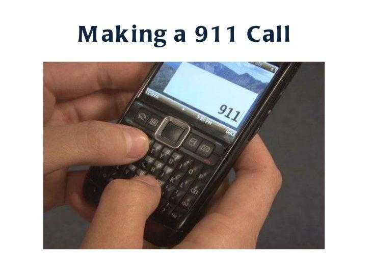Making a 911 Call
