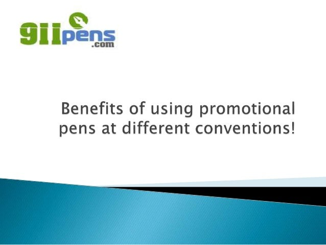  You can be benefited in various ways by using promotional pens at any convention. There are many web stores that can cus...