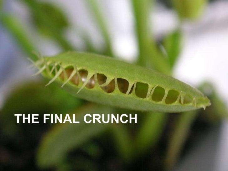 THE FINAL CRUNCH