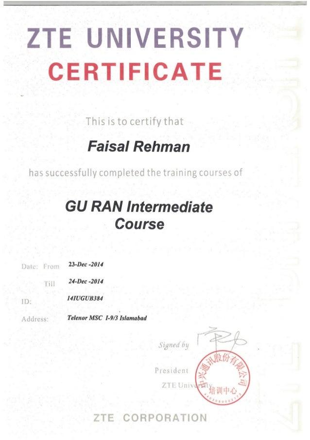 GU RAN Intermediate Product Course