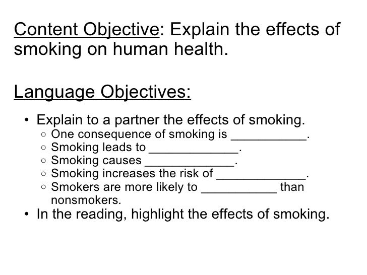 language and Content objectives
