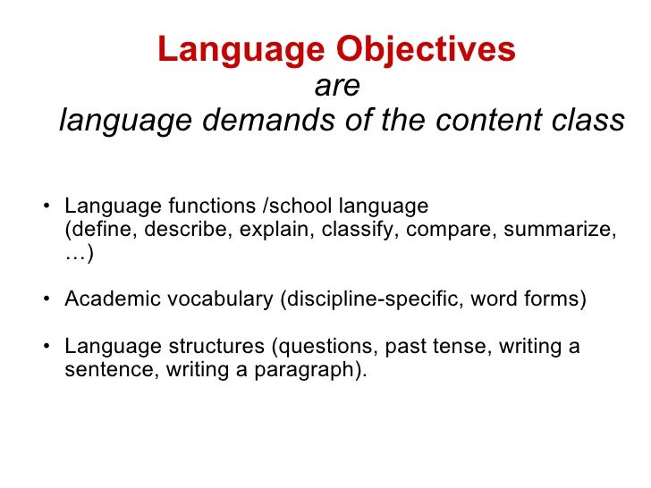 Academic and Learning Objectives