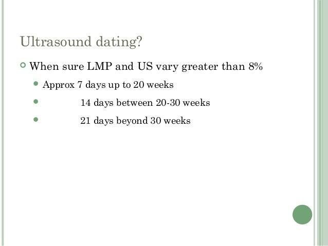 Lmp vs ultrasound dating