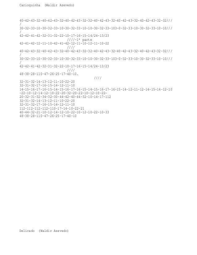 Carioquinha (Waldir Azevedo)  40-42-43-32-40-42-43-32-40-42-43-32-32-40-42-43-32-40-42-43-32-40-42-43-32-32/// / 30-32-33-...