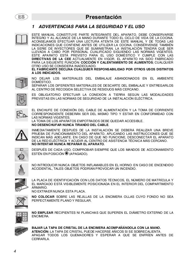 Presentación 4 1 ADVERTENCIAS PARA LA SEGURIDAD Y EL USO ESTE MANUAL CONSTITUYE PARTE INTEGRANTE DEL APARATO. DEBE CONSERV...