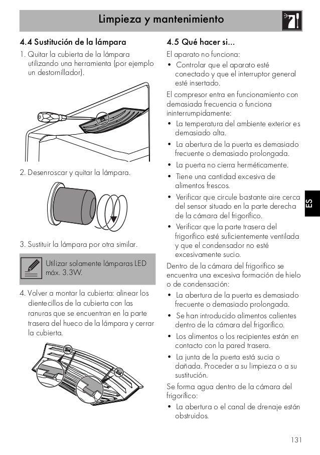 Limpieza y mantenimiento 131 ES 4.4 Sustitución de la lámpara 1. Quitar la cubierta de la lámpara utilizando una herramien...
