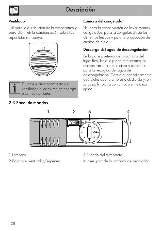 Descripción 108 Ventilador Útil para la distribución de la temperatura y para disminuir la condensación sobre las superfic...