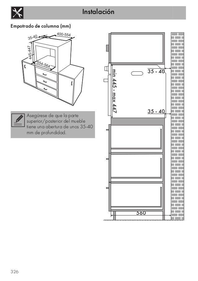 Horno smeg sf4120vc for Dimensiones horno empotrado