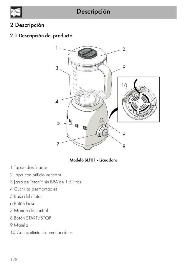 Batidora de vaso smeg BLF01SVEU