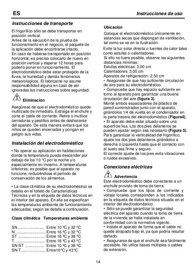 15 Detalles sobre el electrodoméstico Advertencia Se suministra a continuación información sobre los accesorios a modo de ...