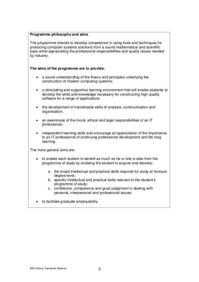 bsc hons computer science - Bsc Computer Science Resume Model
