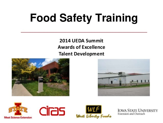 Food Safety Training  2014 UEDA Summit  Awards of Excellence  Talent Development