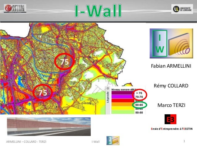 ARMELLINI – COLLARD - TERZI I-Wall 1 Fabian ARMELLINI Rémy COLLARD Marco TERZI E3 Envie d'Entreprendre à l'ESSTIN I W 75 75