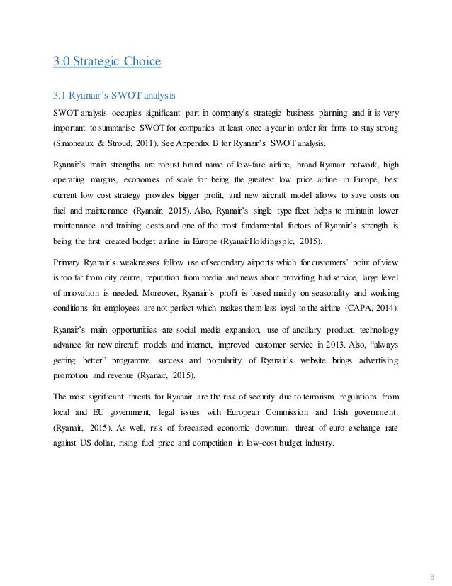 ryanair case study summary Case study: easyjet and ryanair flying high with low prices toifl edith, maike klement hamiyet karaman, tsolmonzul erevgiylkham fk abwl marketing 040177/1.