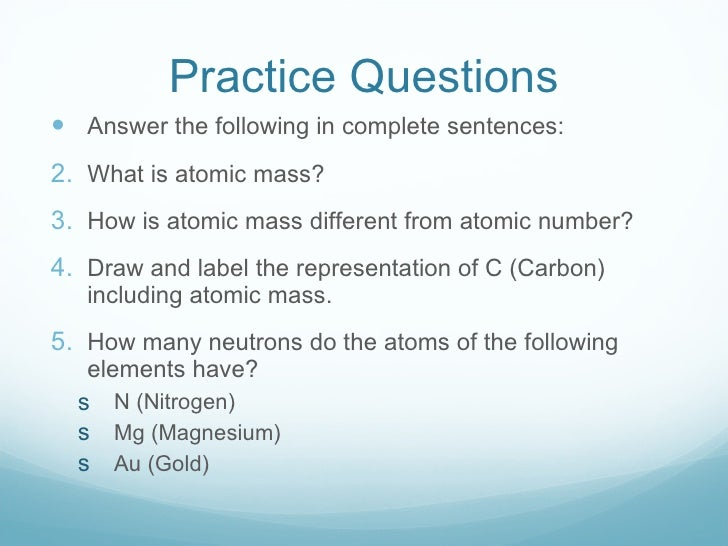 how to get atomic mass