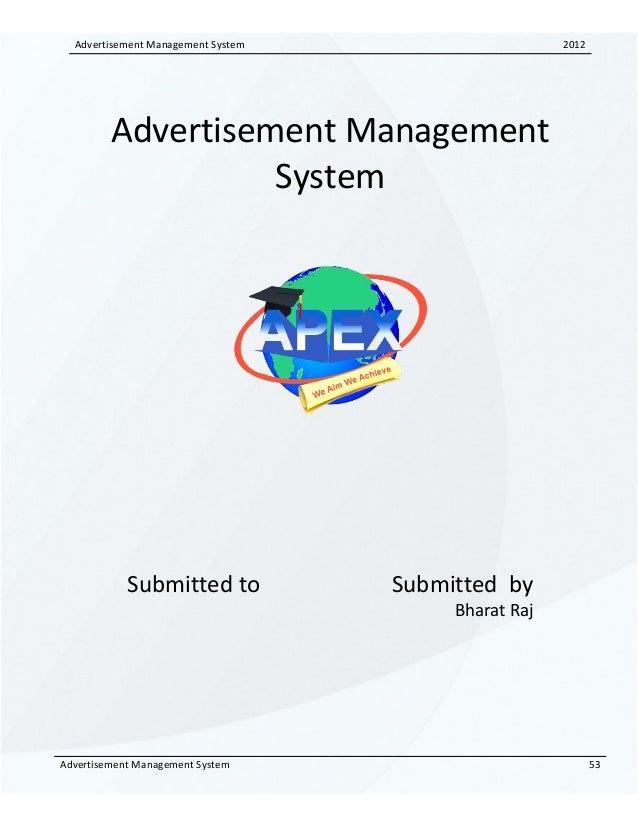 91743410 advertisement-management-system-srs
