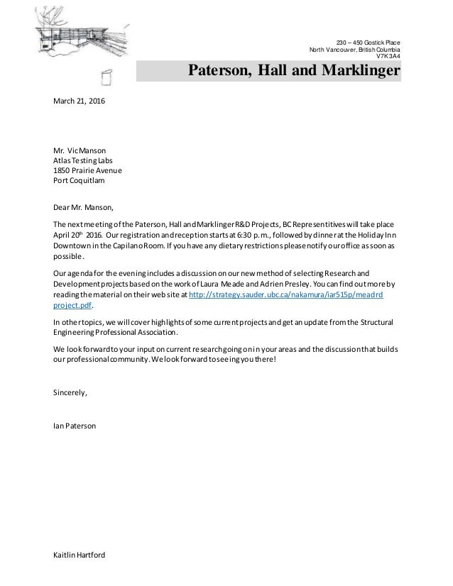 Bc Mail Merge Letter