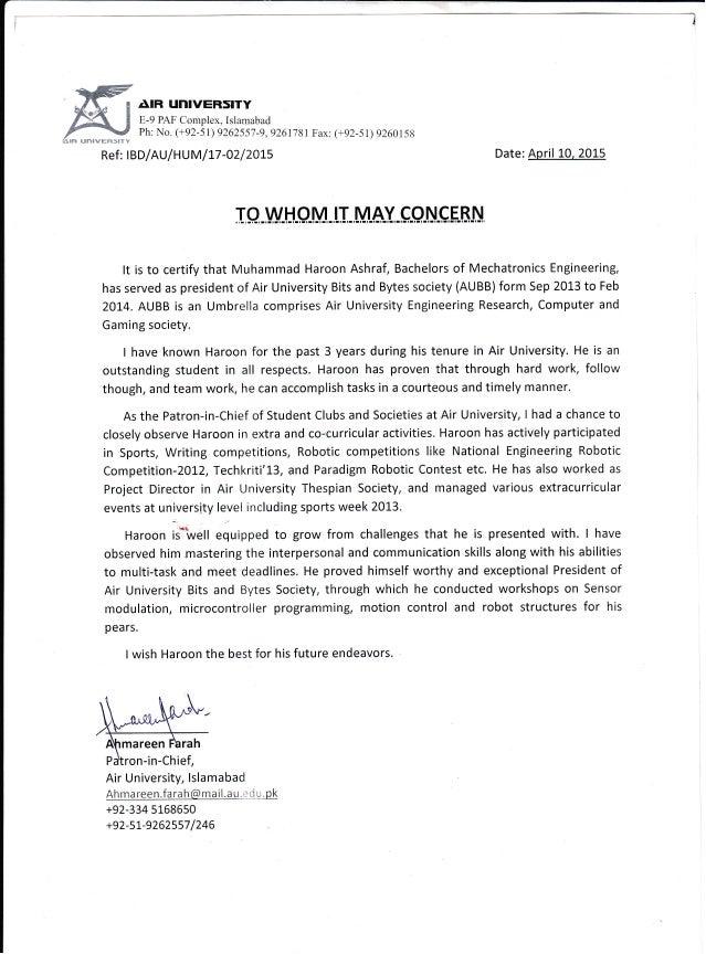 reference letter 1